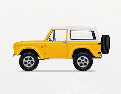 Classical Car Illustration