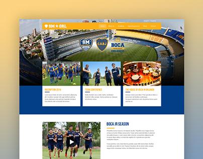Diseño web para SM Orlando, Boca Jrs.