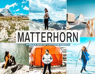 Free Matterhorn Mobile & Desktop Lightroom Presets
