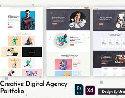 Atrima - Creative Digital Agency Portfolio PSD