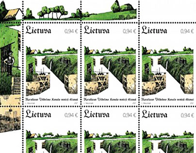 Post stamps dedicated for technical monument