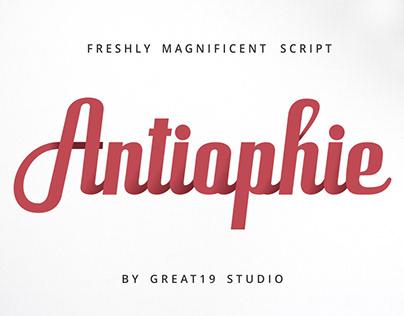 Antiophie   a powerful script font