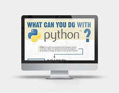 """What Can You Do With Python"" Infographic"