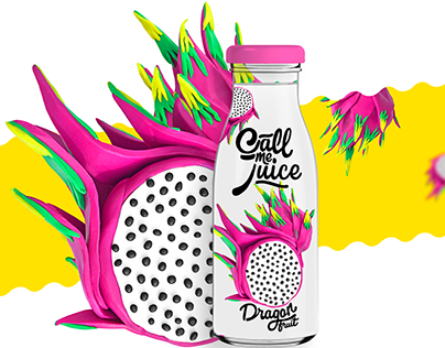 """""""Call me Juice"""" packaging. Plasticine fruits."""