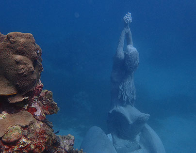 """The Nutmeg Princess"" Grenada Underwater sculpture park"