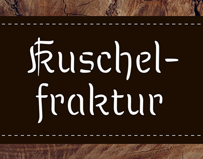 Kuschelfraktur: A warm, casual blackletter