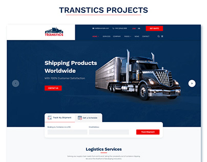 Transport PSD & HTML template