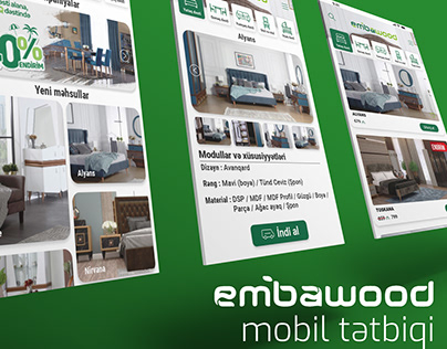 Embawood app ui