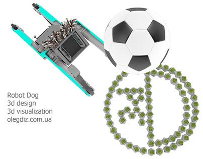 Robot Dog 3d design 3d visualization olegdiz.com.ua