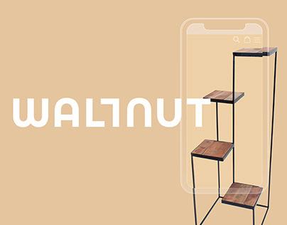 Wallnut Online decor store. E-commerce website design.