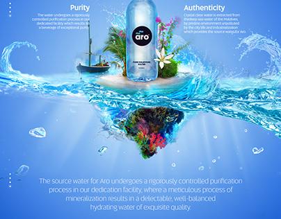 ARO Water Bottle Branding