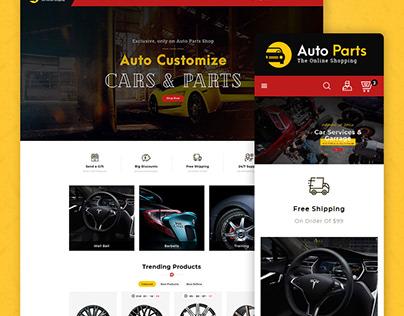 Auto Parts – Equipment & Services – eCommerce Website