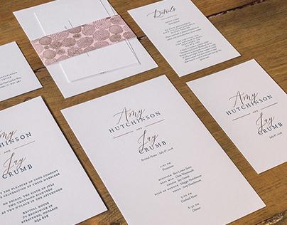 Amy & Jay's Wedding Invitations