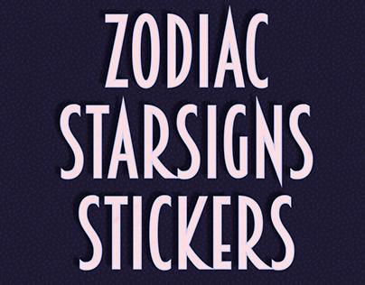 Zodiac Star-Sign Stickers