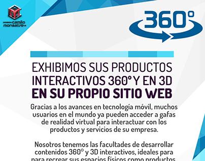 volvemos sus productos y espacios 3D y 360 Interactivo