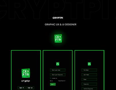 cryptpi mobile app design