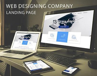 WEB DESIGNING COMPANY LANDING PAGE