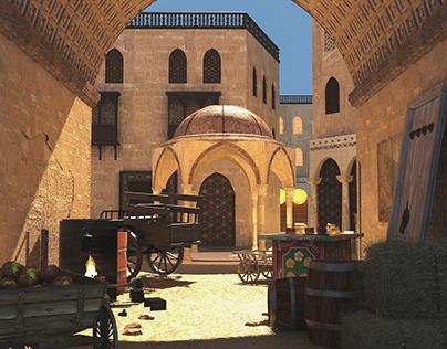Old Arab neighborhood in Turkey