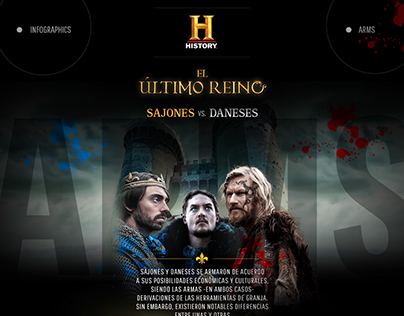 History Channel | Sajones vs. Danéses | Infografía.