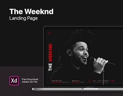 TheWeeknd Landing Page   Free Download   Adobe XD