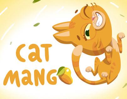 Cat Mango Mascot Design