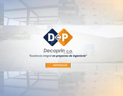 Página Web para la constructora Decoprin C.A.