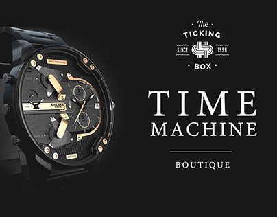 Time Machine Boutique Lightbox design.