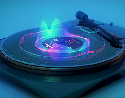 3D Turntable Audio Visualizer - After Efffects Template
