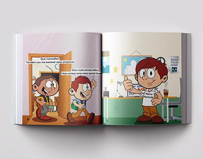 Cartilha sobre Trabalho Infantil (Ilustração e layout)