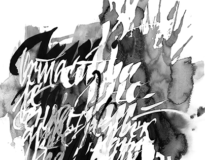 Expressive Calligraphy #2 Black and white