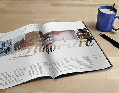 2-page spread editorial design for Salone del Mobile