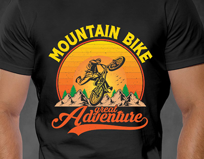 Mountain Bike Tshirt design