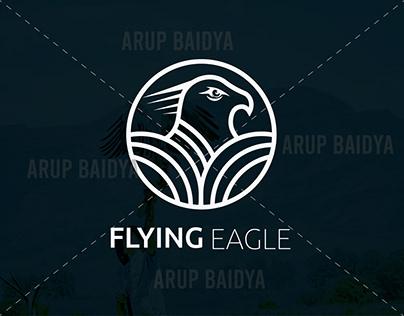 FLYING EAGLE MINIMALIST LOGO DESIGN