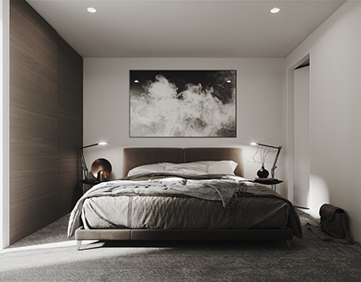 White bedroom visualization