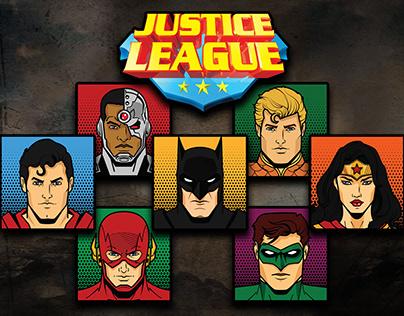 Justice League Faceblocks