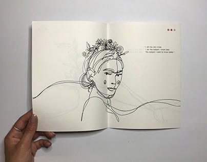frida kahlo / zine / illustration