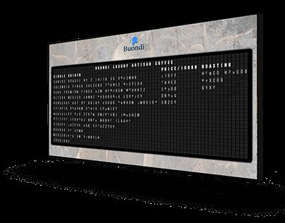 Digital Departure Coffee Menu Board