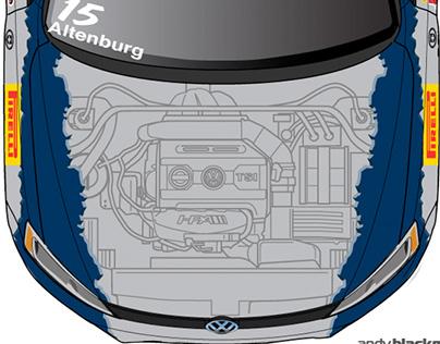 HPA Motorsports VW Jetta 'cutaway' livery & Team ID