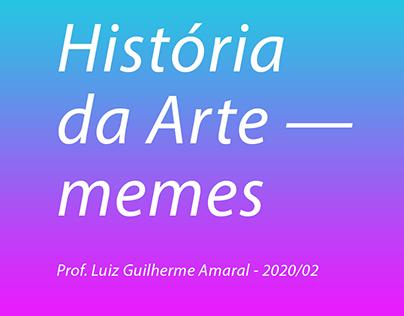 História da Arte — memes