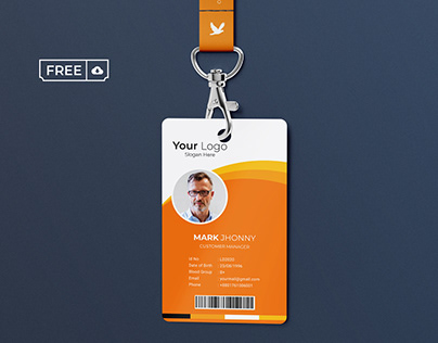 ID card Vector Template Free Download