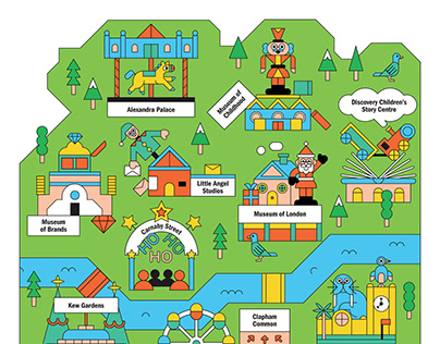 Kids Illustrated Map – Time Out London
