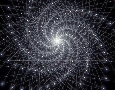 Fibonacci Phyllotaxis Generative Art Series 1