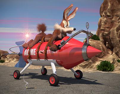 Will E Coyote takes a ride
