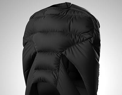 Rick Owens' jacket digital recreation