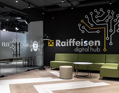 Interior photoshoot of Reiffeisen bank Aval workspace