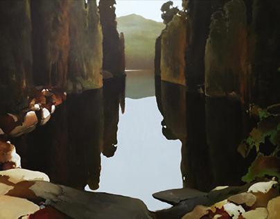 """. . ."" oil/canvas 160x100 2019"