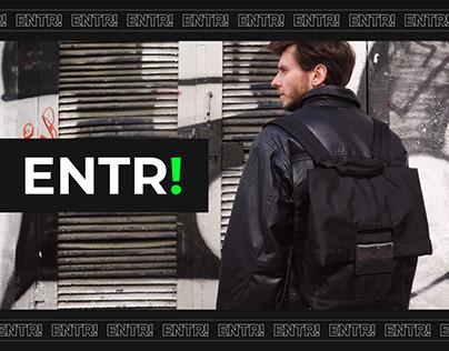 Website for ENTR! Backpacks & accessories