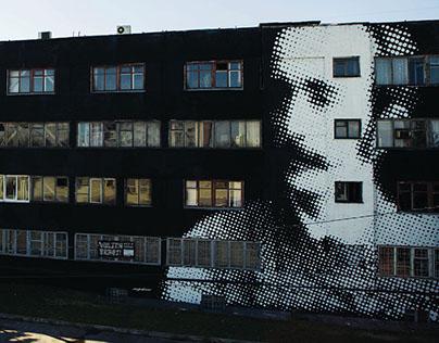 Graf Chapskiy on wall