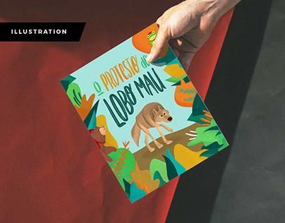 Children's book - O Protesto do Lobo Mau