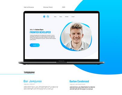 Design for Frontend Developer's Portfolio Website